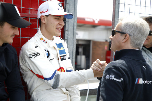 Sheldon van der Linde, BMW Team RBM with Jens Marquardt, BMW Motorsport Director.