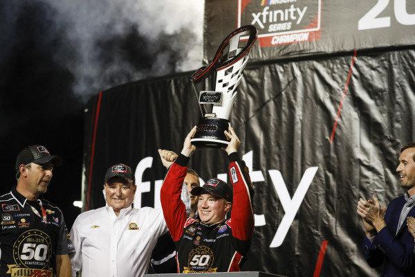 Champion #2: Tyler Reddick, Richard Childress Racing, Chevrolet Camaro TAME the BEAST, podium, celebration, trophy
