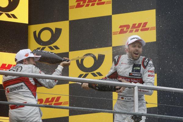 Podium: Mike Rockenfeller, Audi Sport Team Phoenix and René Rast, Audi Sport Team Rosberg.