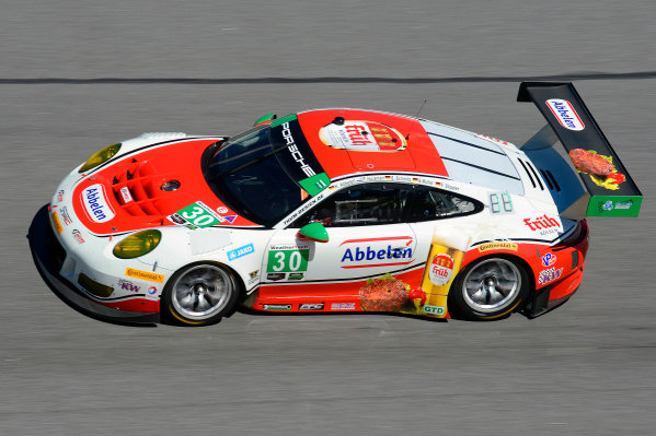 28-31 January, 2016, Daytona Beach, Florida USA 30, Porsche, GT3 R, GTD, Klaus Abbelen, Patrick Huisman, Frank Stippler, Sabine Schmitz, Sven Muller ?2016, F. Peirce Williams LAT Photo USA