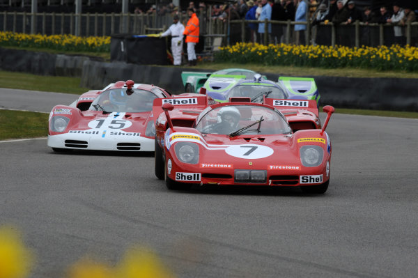 2016 74th Members Meeting Goodwood Estate, West Sussex,England 19th - 20th March 2016 GP5 Sports Cars Demo Ferrari 512 World Copyright : Jeff Bloxham/LAT Photographic Ref : Digital Image