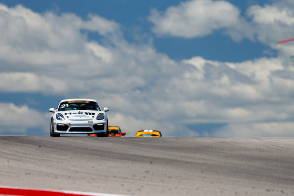 IMSA Continental Tire SportsCar Challenge Advance Auto Parts SportsCar Showdown Circuit of The Americas, Austin, TX USA Thursday 4 May 2017 21, Porsche, Porsche Cayman GT4, GS, Cameron Lawrence, Chuck Quinton World Copyright: Jake Galstad LAT Images