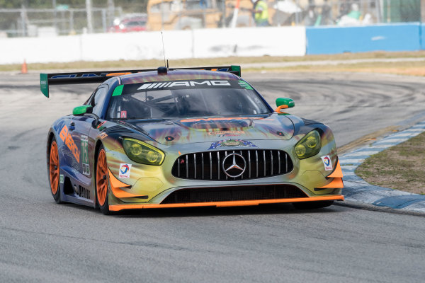 2017 WeatherTech SportsCar Championship - IMSA February Test Sebring International Raceway, Sebring, FL USA Thursday 23 February 2017 75, Mercedes, Mercedes AMG GT3, GTD, Boris Said, Tristan Vautier, Kenny Habul World Copyright: Richard Dole/LAT Images  ref: Digital Image RD_2_17_12