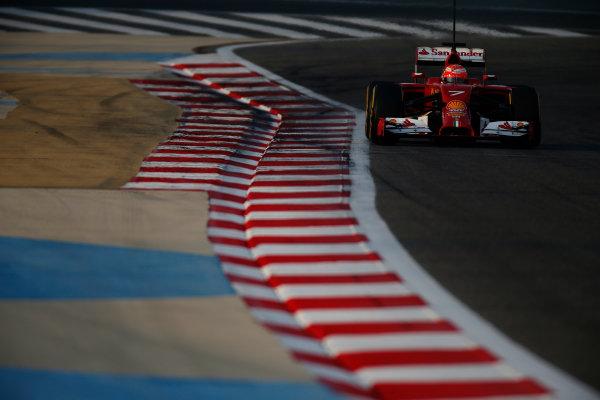 2014 F1 Pre Season Test 2 - Day 3 Bahrain International Circuit, Bahrain. Saturday 22 February 2014. Kimi Raikkonen, Ferrari F14T. World Copyright: Glenn Dunbar/LAT Photographic. ref: Digital Image _W2Q4573