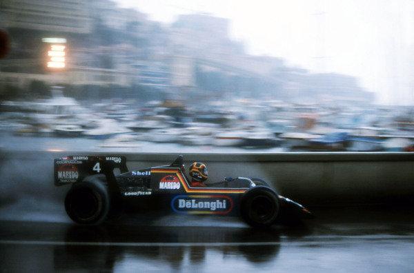 Stefan Bellof (GER), Tyrrell 012, finished third. Monaco Grand Prix, Rd6, Monte-Carlo, Monaco. 3 June 1984. BEST IMAGE