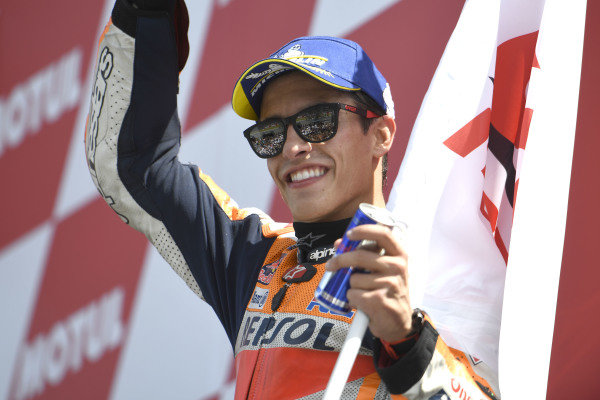 Podium: second place Marc Marquez, Repsol Honda Team.