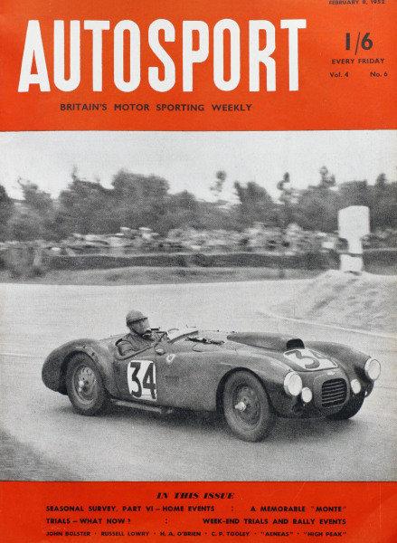 Cover of Autosport magazine, 8th February 1952