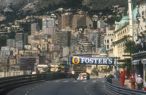 1990 Monaco Grand Prix.Monte Carlo, Monaco.25-27 May 1990.Ayrton Senna (McLaren MP4/5B Honda) 1st position at the entry to Masenet.Ref-90 MON 03.World Copyright - LAT Photographic