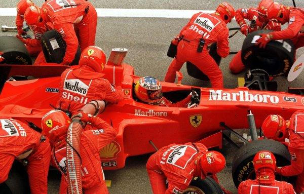 1997 Spanish Grand Prix.Catalunya, Barcelona, Spain.23-25 May 1997.Michael Schumacher (Ferrari F310B) 4th position.World Copyright - Leicester/LAT Photographic