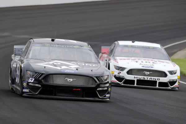 #53: Josh Bilicki, Rick Ware Racing, Ford Mustang AQRE.app and #2: Brad Keselowski, Team Penske, Ford Mustang Discount Tire