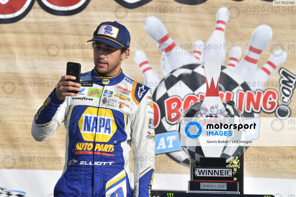 #9: Chase Elliott wins the Go Bowling At The Glen for  Hendrick Motorsports in the Chevrolet Camaro by NAPA AUTO PARTS