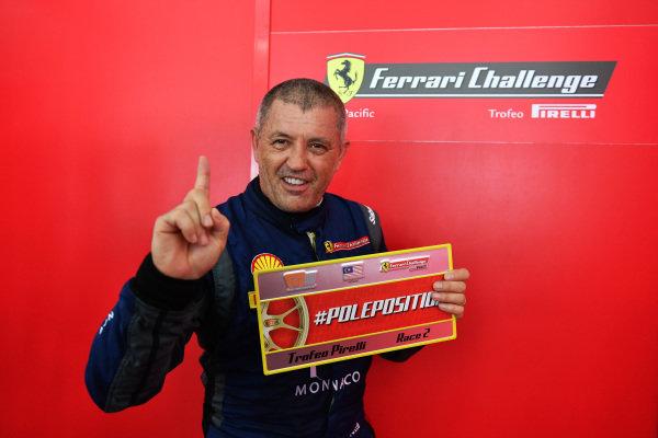 Philippe Prette, Blackbird Concessionaires HK, celebrates the Trofeo Pirelli Race 2 pole position