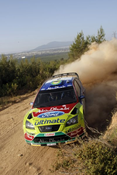 2008 FIA World Rally ChampionshipRound 07Acropolis Rally  200829/5-1/6  2008Mikko Hirvonen, Ford WRC, Action