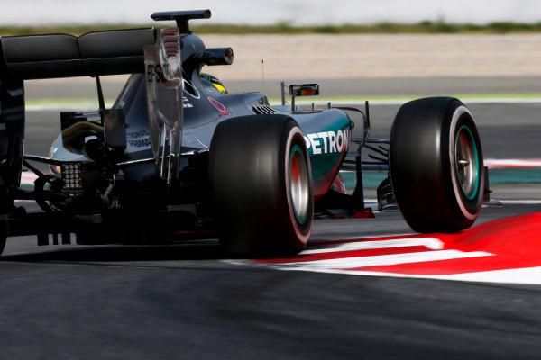 Circuit de Catalunya, Barcelona, Spain. Wednesday 13 May 2015. Pascal Wehrlein, Mercedes F1 W06 Hybrid.  World Copyright: Alastair Staley/LAT Photographic. ref: Digital Image _79P5223