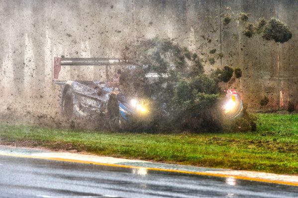 1-3 October, 2015 , Brasleton, Georgia, USA 90, Chevrolet, Corvette DP, P, Richard Westbrook, Michael Valiante, Mike Rockenfeller spins on the front straight during re-start. ©2015, Richard Dole LAT Photo USA