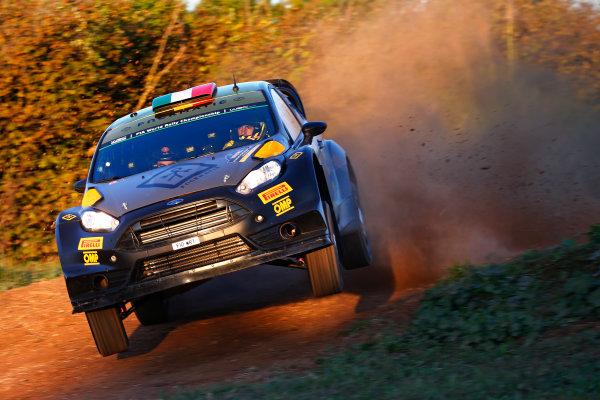 2015 World Rally Championship  Round 12, Rally of Spain, Catalunya 22nd - 25th October, 2015 Lorenzo Bertelli, Ford, action  Worldwide Copyright: McKlein/LAT