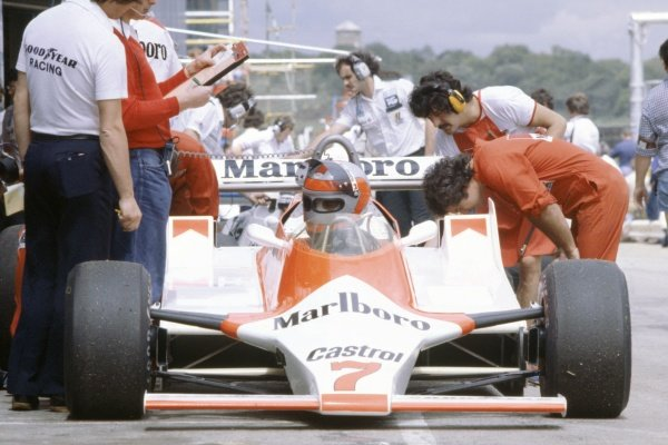 1980 South African Grand Prix.Kyalami, South Africa. 28 February-1 March 1980.John Watson (McLaren M29B-Ford Cosworth), 11th position.World Copyright: LAT PhotographicRef: 35mm transparency 80SA18