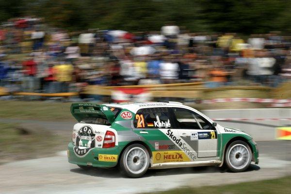 2006 FIA World Rally Champs. Round elevenDeutschland Rally.9th- 13th August 2006.Mattias Kahle, Skoda, action.World Copyright: McKlein/LAT