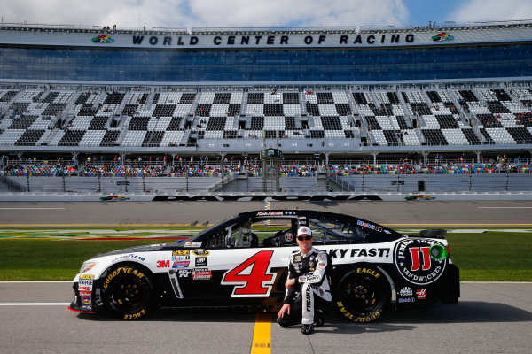 13-21 February, 2016, Daytona Beach, Florida USA   Kevin Harvick, driver of the #4 Jimmy John's Chevrolet, poses with his car after qualifying for the NASCAR Sprint Cup Series Daytona 500 at Daytona International Speedway on February 14, 2016 in Daytona Beach, Florida.   LAT Photo USA via NASCAR via Getty Images