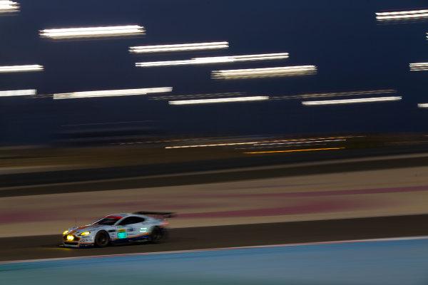 2015 FIA World Endurance Championship Bahrain 6-Hours Bahrain International Circuit, Bahrain Saturday 21 November 2015. Christoffer Nygaard, Marco S?rensen, Nicki Thiim (#95 GTE PRO Aston Martin Racing Aston Martin Vantage V8). World Copyright: Sam Bloxham/LAT Photographic ref: Digital Image _SBL5569