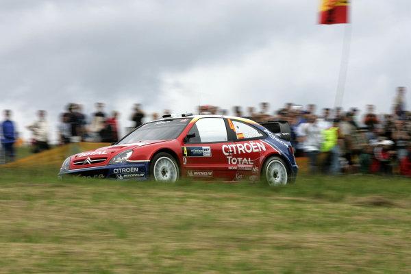 2004 FIA World Rally Champs. Round ten, OMV Deutschland Rally.19th - 22nd August 2004.Carlos Sainz, Citroen, action.World Copyright: McKlein/LAT