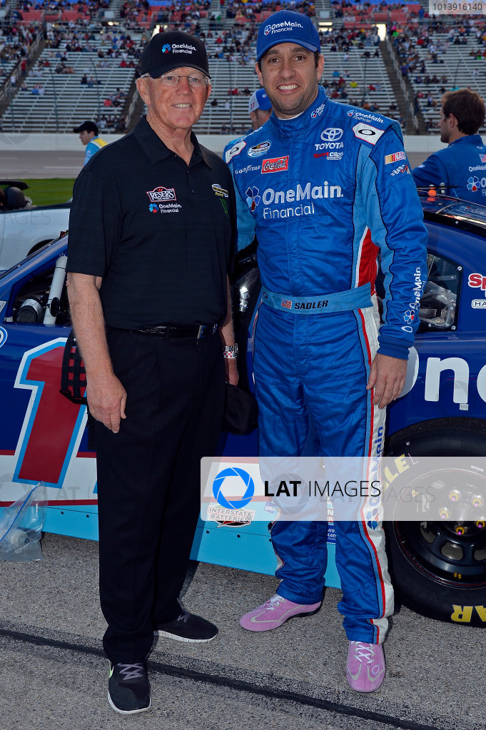 April 11-12, 2013 Fort Worth, Texas USA Elliott Sadler, OneMain Financial Toyota Camry with Joe Gibbs © 2013, Brian Czobat LAT Photo USA .