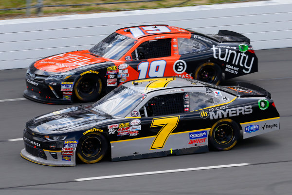 NASCAR XFINITY Series Pocono Green 250 Pocono Raceway, Long Pond, PA USA Saturday 10 June 2017 Justin Allgaier, Allan Myers Chevrolet Camaro and Matt Tifft, Tunity Toyota Camry World Copyright: Russell LaBounty LAT Images ref: Digital Image 17POC1rl_03640