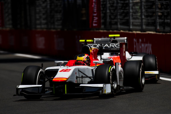 2017 FIA Formula 2 Round 4. Baku City Circuit, Baku, Azerbaijan. Friday 23 June 2017. Robert Visoiu (ROU, Campos Racing)  Photo: Zak Mauger/FIA Formula 2. ref: Digital Image _54I9868