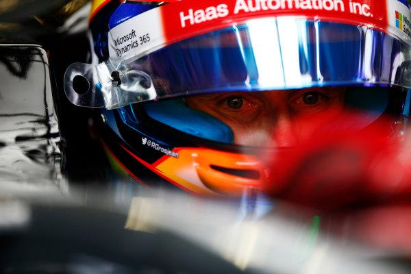 Red Bull Ring, Spielberg, Austria. Saturday 08 July 2017. Romain Grosjean, Haas F1, in cockpit with helmet visor open. World Copyright: Andy Hone/LAT Images ref: Digital Image _ONY0237