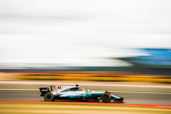 Silverstone, Northamptonshire, UK.  Friday 14 July 2017. Lewis Hamilton, Mercedes F1 W08 EQ Power+. World Copyright: Glenn Dunbar/LAT Images  ref: Digital Image _31I3249