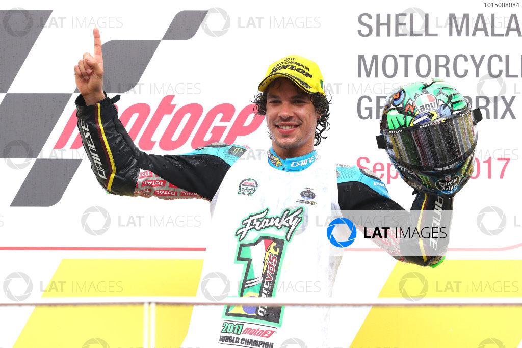 2017 Moto2 Championship - Round 17 Sepang, Malaysia. Sunday 29 October 2017 Podium: third place Franco Morbidelli, Marc VDS World Copyright: Gold and Goose / LAT Images ref: Digital Image 26797