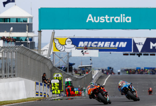 2017 Moto2 Championship - Round 16 Phillip Island, Australia. Sunday 22 October 2017 Brad Binder, Red Bull KTM Ajo World Copyright: Gold and Goose / LAT Images ref: Digital Image 24770