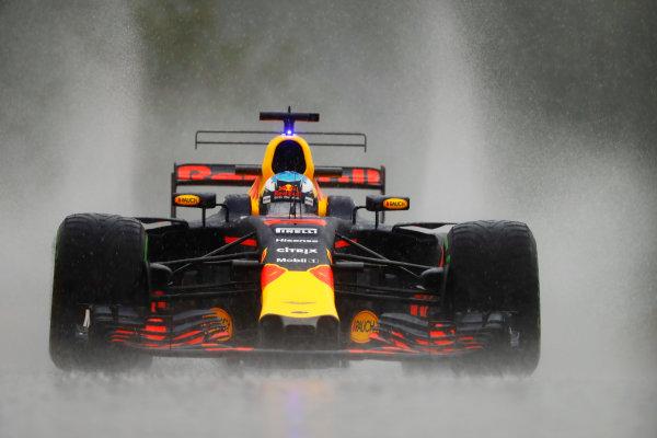 Spa Francorchamps, Belgium.  Friday 25 August 2017. Daniel Ricciardo, Red Bull Racing RB13 TAG Heuer.  World Copyright: Steven Tee/LAT Images  ref: Digital Image _R3I9622