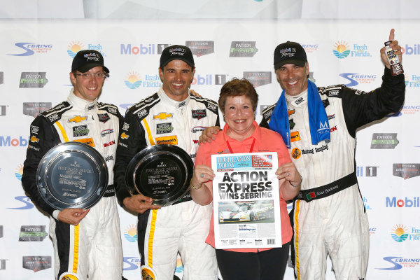 19-21 March, 2015, Sebring, Florida, USA Winners  5, Chevrolet, Corvette DP, P, Joao Barbosa, Christian Fittipaldi, Sebastien Bourdais, ©2015, Michael L. Levitt LAT Photo USA