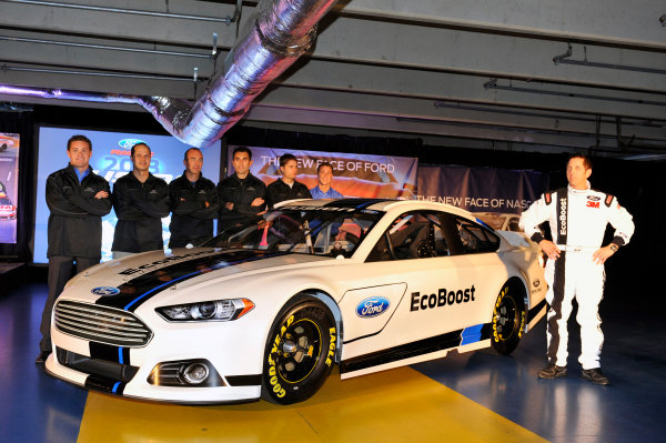 24 January, 2012, Concord, North Carolina, USAGreg Biffle and fellow Ford drivers at the unveiling of the 2013 Ford Fusion which will compete in the NASCAR Sprint Cup Series in 2013.(c)2012, LAT SouthLAT Photo USA