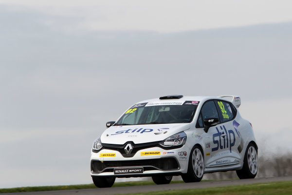 2014 Renault Clio Cup, Donington Park, Leicestershire. 17th - 20th April 2014. Jordan Stilp (GBR) 20Ten Racing Renault Clio Cup. World Copyright: Ebrey / LAT Photographic.