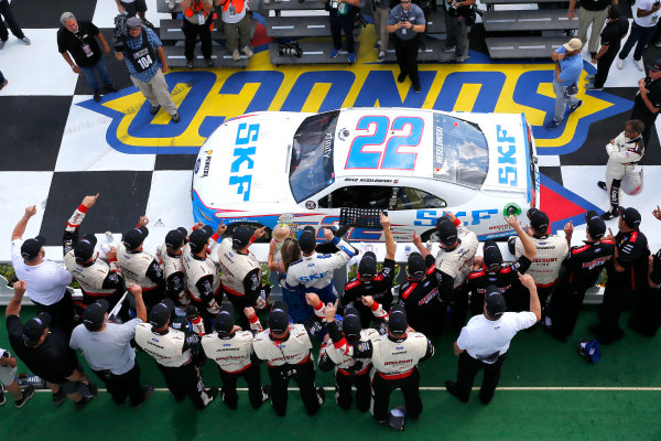 NASCAR XFINITY Series Pocono Green 250 Pocono Raceway, Long Pond, PA USA Saturday 10 June 2017 Brad Keselowski, SKF Ford Mustang celebrates in victory lane after winning World Copyright: Russell LaBounty LAT Images ref: Digital Image 17POC1rl_03997