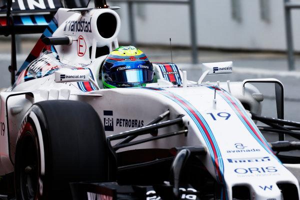 Circuit de Catalunya, Barcelona, Spain.  Wednesday 18 May 2016.  Felipe Massa, Williams FW38 Mercedes.   World Copyright: Sam Bloxham/LAT Photographic ref: Digital Image _R6T1940