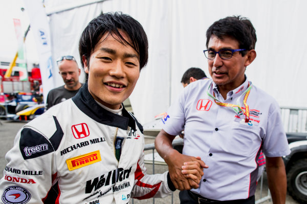 2017 FIA Formula 2 Round 9. Autodromo Nazionale di Monza, Monza, Italy. Friday 1 September 2017. Nobuharu Matsushita (JPN, ART Grand Prix).  Photo: Zak Mauger/FIA Formula 2. ref: Digital Image _56I6591