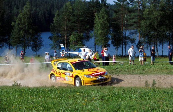 Timo Salonen (FIN) Peugeot 206 WRC.