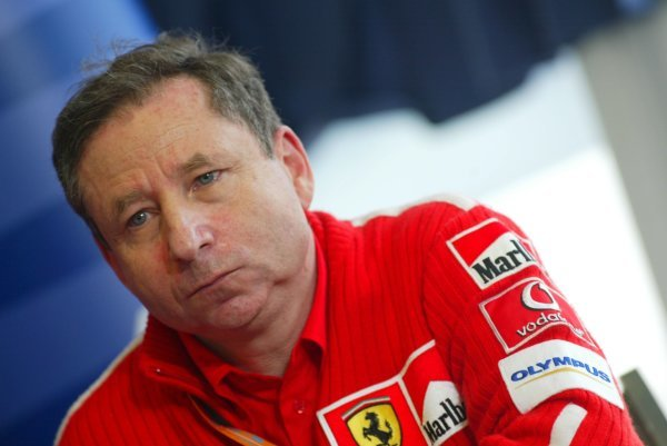Jean Todt (FRA) Ferrari General Manager substituted for race winner Michael Schumacher (GER) Ferrari in the press conference following the death of Schumacher's mother.Formula One World Championship, Rd4, San Marino Grand Prix, Race Day, Imola, Italy, 20 April 2003.DIGITAL IMAGE
