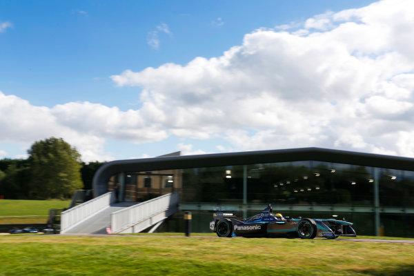 Jaguar Racing Official Formula E Launch Jaguar Heritage Collections Centre, Gaydon, UK Thursday 8 September 2016 Ho-Pin Tung drives the new Jaguar Racing Formula E car. World Copyright: Andrew Ferraro/LAT Photographic ref: Digital Image _14P5024