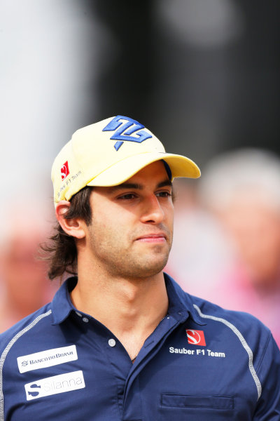 Silverstone Circuit, Northamptonshire, England. Friday 3 July 2015. Felipe Nasr, Sauber. World Copyright: Alastair Staley/LAT Photographic ref: Digital Image _79P0649
