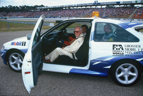 Hockenheim, Germany. 25th - 27th July 1997.Professor Sid Watkins, FIA Medical Delegate, in a Ford Escort RS2000, portrait. World Copyright: LAT Photographic.Ref:  Colour Transparency