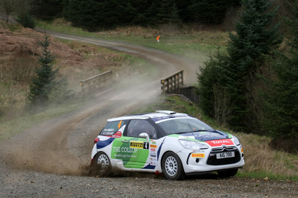 2014 MSA British Rally Championship, Pirelli Carlisle R B Foundation Rally. 3rd - 4th May 2014. Timothy Cathcart / Dai Roberts Citroen DS3. World Copyright: Ebrey / LAT Photographic.