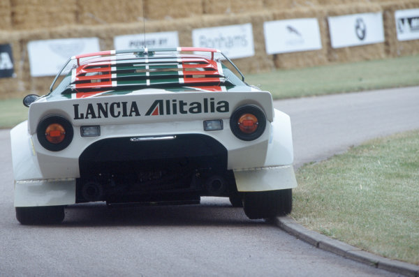 2004 Goodwood Festival of SpeedGoodwood House, Chichester, England. 25th - 27th June.The unmistakeable rear of the Lancia Stratos Rally car.World Copyright: Jeff Bloxham/LAT Photographicref: 35mm Transparency Image.
