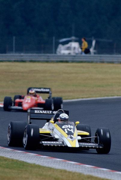 1985 German Grand Prix. Nurburgring, Germany. 2-4 August 1985. Francois Hesnault (Renault RE60). Ref-85 GER 31. World Copyright - LAT Photographic