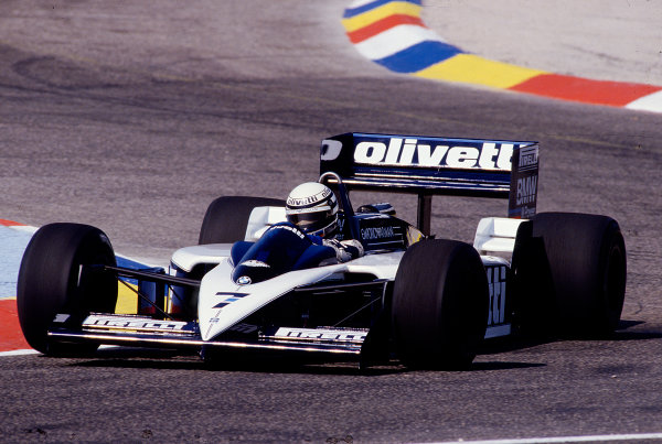 1986 French Grand Prix. Paul Ricard, Le Castellet, France. 4-6 July 1986. Riccardo Patrese (Brabham BT55 BMW) 7th position. Ref-86 FRA 32. World Copyright - LAT Photographic