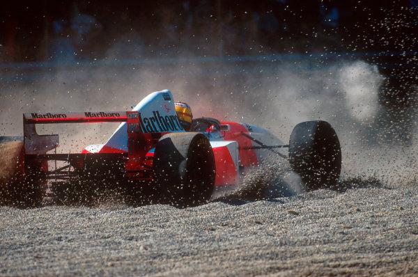 Monza, Italy.8-10 September 1995.Mark Blundell (McLaren MP4/10B Mercedes) 4th position.Ref-95 ITA 11.World Copyright - LAT Photographic
