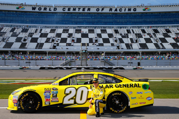 13-21 February, 2016, Daytona Beach, Florida USA   Matt Kenseth, driver of the #20 Dollar General Toyota, poses after qualifying for the Front Row in the NASCAR Sprint Cup Series Daytona 500 at Daytona International Speedway on February 14, 2016 in Daytona Beach, Florida.   LAT Photo USA via NASCAR via Getty Images